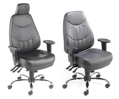 Mercury 'Leather Faced' 24 Hour Task Chairs
