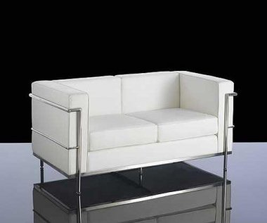 Moon White Bonded Leather Sofa Collection