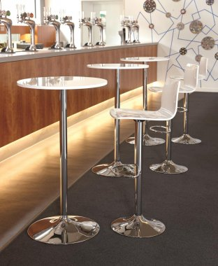 Stork White Cafe Stool