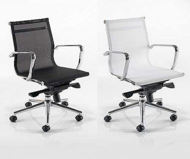 Seville Medium Back Mesh Seat & Back Executive Chair