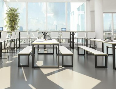 Fusion White Bench Tables & Seats