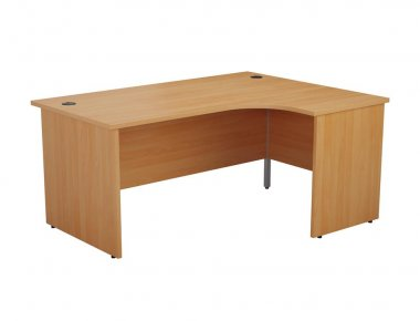24/48 Hour Beech & Oak Panel End Radial Desk