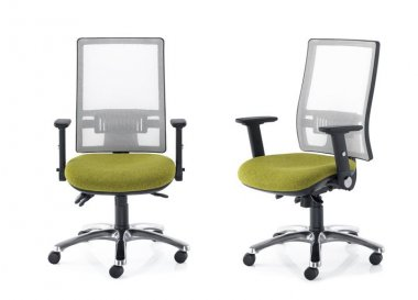 Tempo White Mesh Back Operator Chair