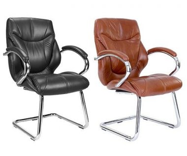 System Leather Faced Conference Chair