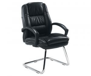 Western Leather Faced Conference Chair