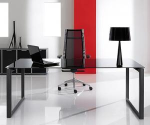 Solar Glass Executive Desk