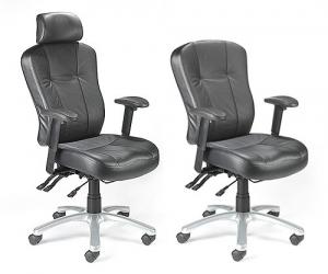 Zircon 'Leather Faced' 24 Hour Task Chairs