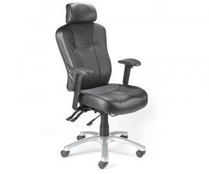 Zircon 24 Hour Leather Task Chairs - 'with' Headrest
