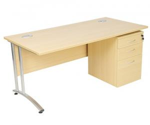 Ideal Rectangular Desk & Pedestal Sets