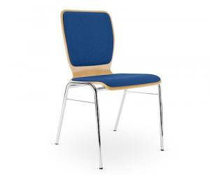 Wing blue meeting room fabric chair