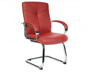 Ruby Leather Faced Conference Chair