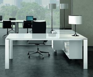 glass desks for office. Pure White Executive Glass Desk Desks For Office O