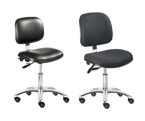 ESD Static Safe Fabric Operator Chair & ESD Static Safe & Sterile Vinyl Operator Chair