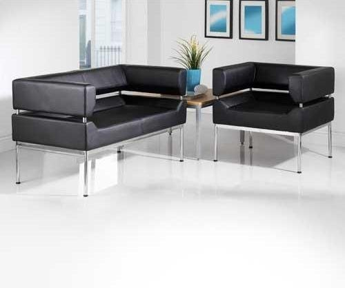 Flute Faux Leather Sofa Collection