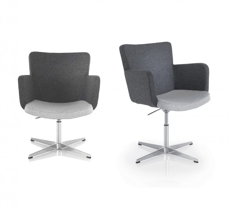 Ravel Swivel Base Reception Chair