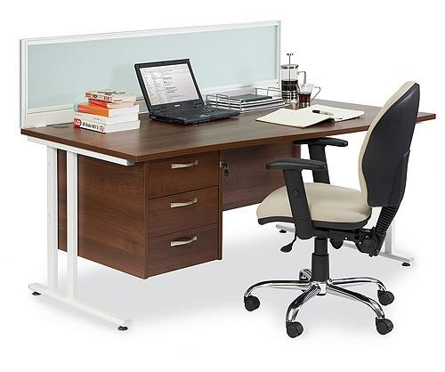Jet Rectangular Desk & Pedestal Sets