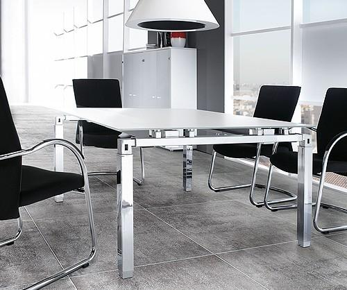 White Glass Meeting Room Table